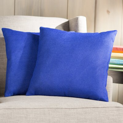 Wayfair Basics Throw Pillow Color: Blue