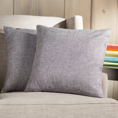 Wayfair Basics 18 Throw Pillow Color: Gray