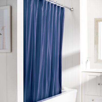 Wayfair Basics Vinyl Shower Curtain Liner Color: Navy