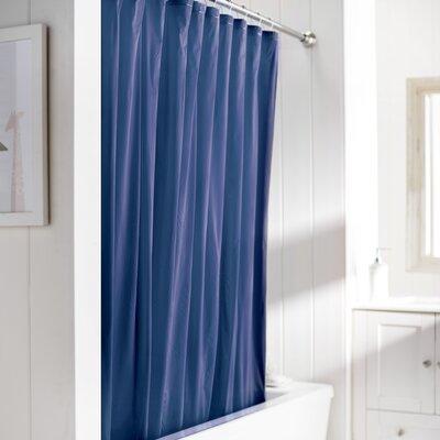 Wayfair Basics Vinyl Shower Curtain Liner Color: Navy