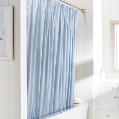 Wayfair Basics Vinyl Shower Curtain Liner Color: Light Blue