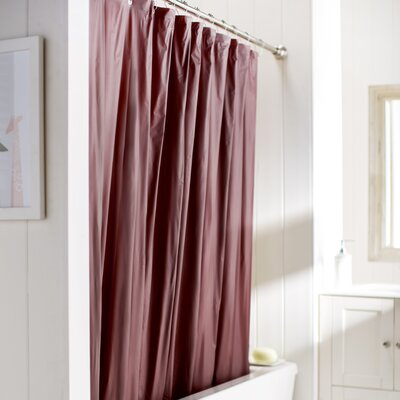 Wayfair Basics Vinyl Shower Curtain Liner Color: Burgundy