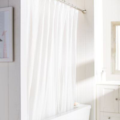 Wayfair Basics Vinyl Shower Curtain Liner Color: Frosty Clear