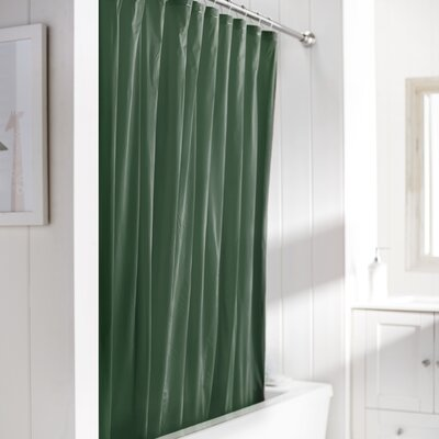 Wayfair Basics Vinyl Shower Curtain Liner Color: Evergreen