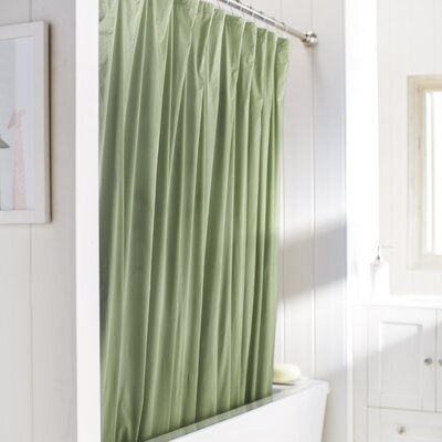 Wayfair Basics Vinyl Shower Curtain Liner Color: Sage