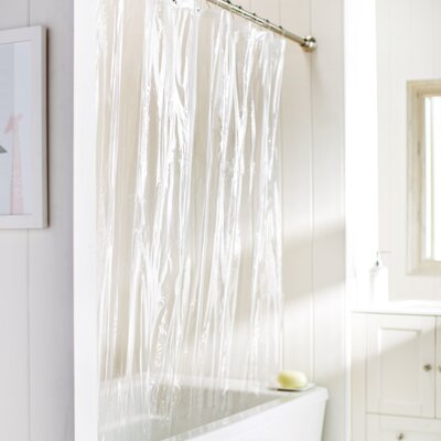 Wayfair Basics Vinyl Shower Curtain Liner Color: Super Clear