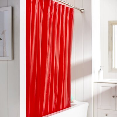 Wayfair Basics Vinyl Shower Curtain Liner Color: Red