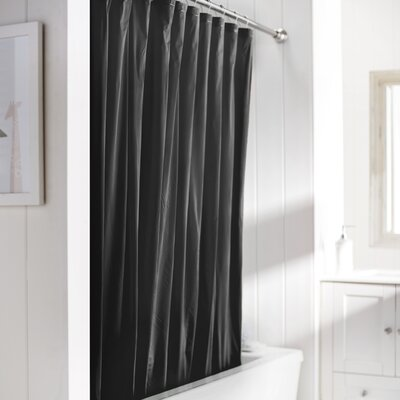 Wayfair Basics Vinyl Shower Curtain Liner Color: Black