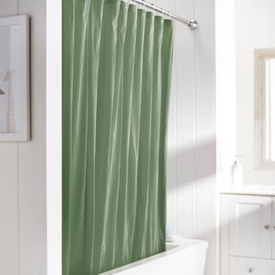 Wayfair Basics Vinyl Shower Curtain Liner Color: Jade