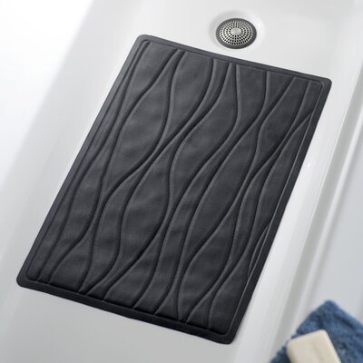 Wayfair Basics Rubber Bath Tub Mat Color: Black, Size: 18 x 36