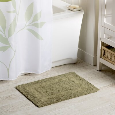 Wayfair Basics Reversible Bath Rug Size: 21 x 34, Color: Sage