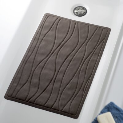 Wayfair Basics Rubber Bath Tub Mat Size: 16 x 28, Color: Brown