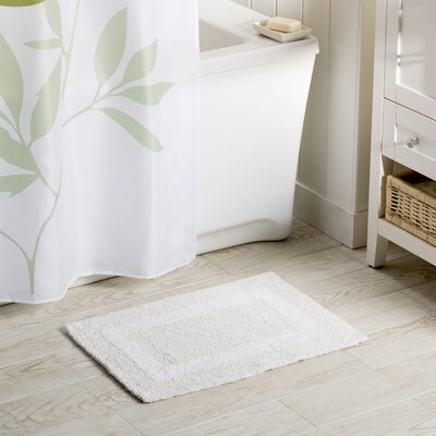Wayfair Basics Reversible Bath Rug Size: 17 x 24, Color: White