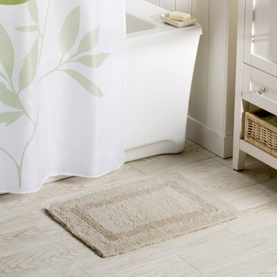 Wayfair Basics Reversible Bath Rug Size: 17 x 24, Color: Ivory