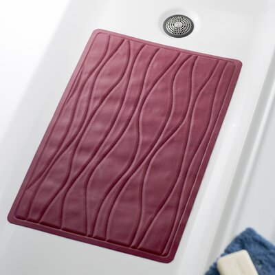 Wayfair Basics Rubber Bath Tub Mat Color: Burgundy, Size: 13 x 20.5