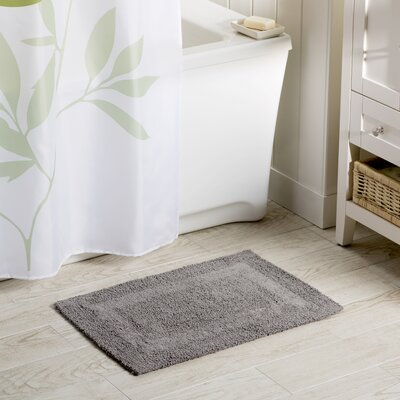 Wayfair Basics Reversible Bath Rug Size: 21 x 34, Color: Pewter