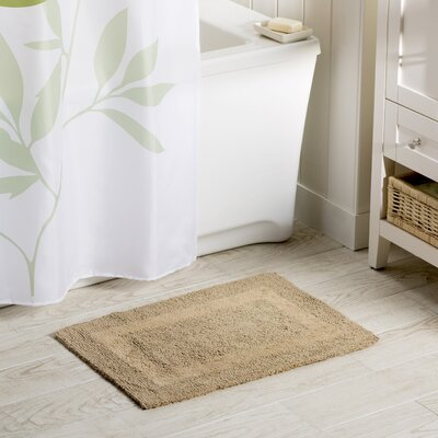 Wayfair Basics Reversible Bath Rug Color: Linen, Size: 21 x 34