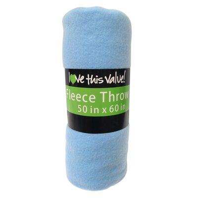 Wayfair Basics Fleece Throw Blanket Color: Blue
