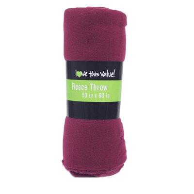 Wayfair Basics Fleece Throw Blanket Color: Purple