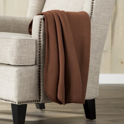 Wayfair Basics Fleece Throw Blanket Color: Tan