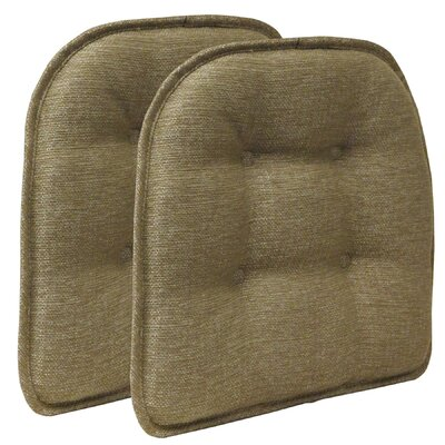 Wayfair Basics Tufted Gripper Chair Cushion Color: Gold