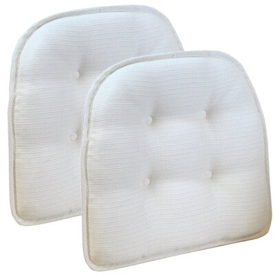 Wayfair Basics Tufted Gripper Chair Cushion Color: Ivory