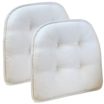 Wayfair Basics Tufted Gripper Chair Cushion Set Color: Ivory
