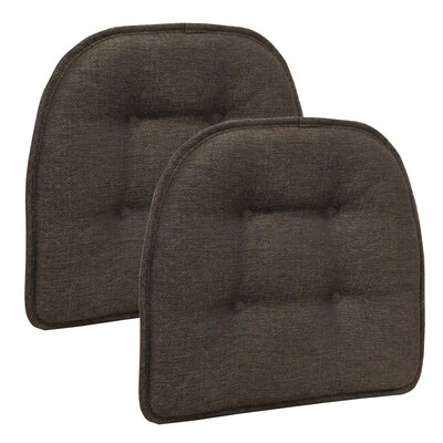 Wayfair Basics Tufted Gripper Chair Cushion Color: Chestnut