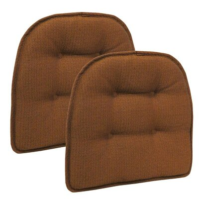 Wayfair Basics Tufted Gripper Chair Cushion Color: Pumpkin