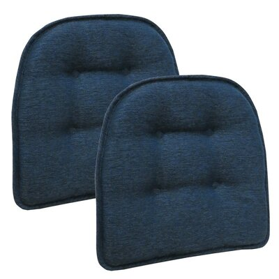 Wayfair Basics Tufted Gripper Chair Cushion Color: Indigo