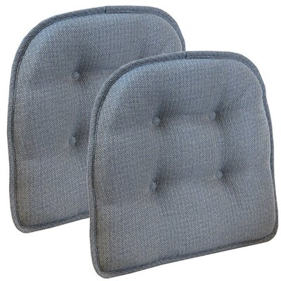 Wayfair Basics Tufted Gripper Chair Cushion Set Color: Steel