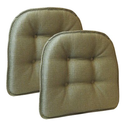Wayfair Basics Tufted Gripper Chair Cushion Color: Sage