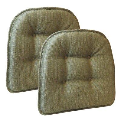 Wayfair Basics Tufted Gripper Chair Cushion Set Color: Sage