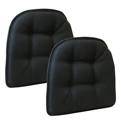 Wayfair Basics Tufted Gripper Chair Cushion Color: Midnight