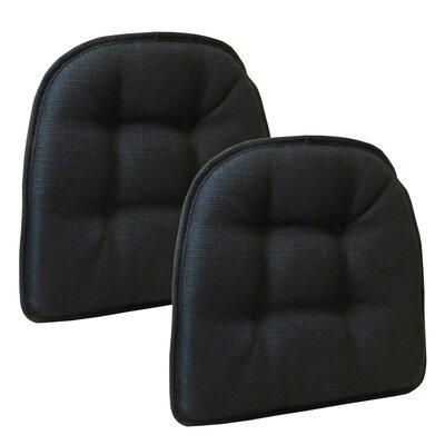 Wayfair Basics Tufted Gripper Chair Cushion Set Color: Midnight