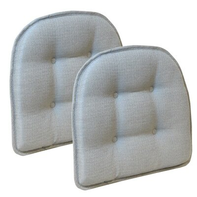 Wayfair Basics Tufted Gripper Chair Cushion Set Color: Gray