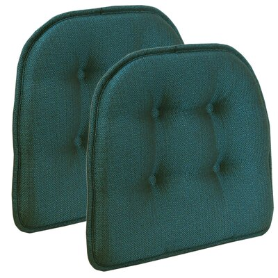 Wayfair Basics Tufted Gripper Chair Cushion Set Color: Aqua