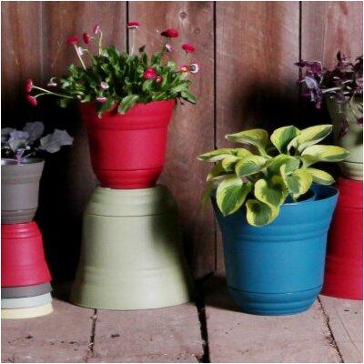 Mcpherson McPherson Round Plastic Pot Planter (Set of 6) Color: Sapphire, Size: 10