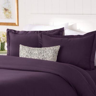 Wayfair Basics 3 Piece Duvet Cover Set Color: Purple, Size: Full / Queen
