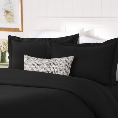 Wayfair Basics Duvet Set Color: Black, Size: Twin
