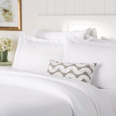 Wayfair Basics Duvet Set Color: White, Size: Twin