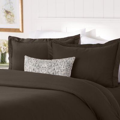 Wayfair Basics Duvet Set Color: Chocolate, Size: Full / Queen