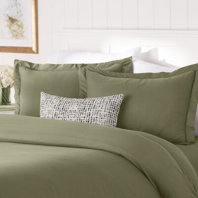 Wayfair Basics Duvet Set Color: Sage, Size: Twin