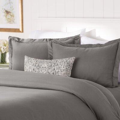 Wayfair Basics Duvet Set Color: Gray, Size: Full / Queen