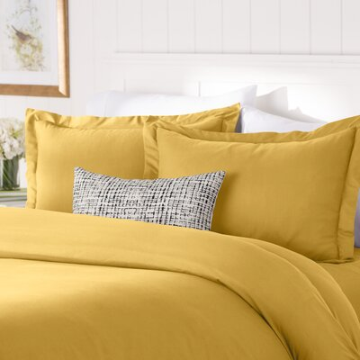 Wayfair Basics Duvet Set Color: Gold, Size: Twin