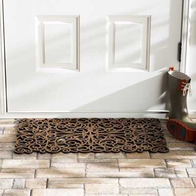 Wayfair Basics Scroll Doormat Color: Gold