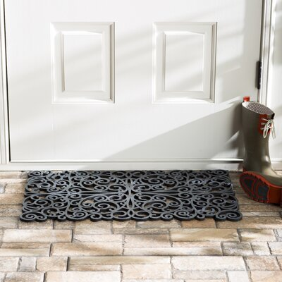 Wayfair Basics Scroll Doormat Color: Silver