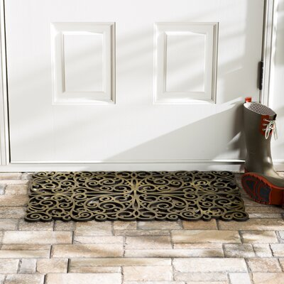 Wayfair Basics Scroll Doormat Color: Bronze