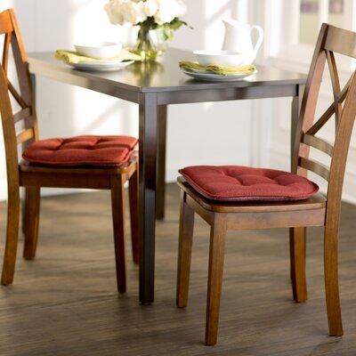 Wayfair Basics Gripped Chair Cushion Set Color: Flame