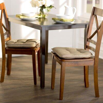 Wayfair Basics Gripped Chair Cushion Set Color: Gold